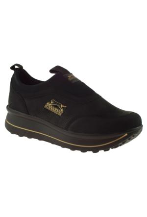 Slazenger 17Lk040 Yüksek Taban Siyah Bayan Ayakkabı