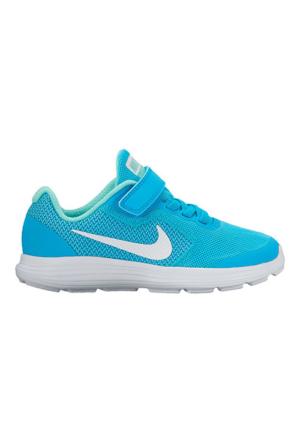 Nike 819417 405 Revolution 3 Çocuk Koşu Ayakkabısı Renkli Bağcık Hediyeli