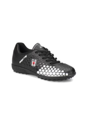 Kinetix Vernado Turf Siyah Beyaz Erkek Çocuk Halı Saha Ayakkabısı