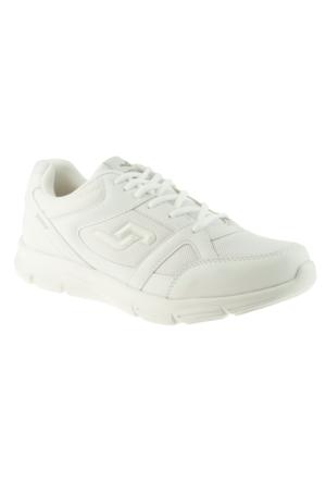 Jump 10555 Bağcıklı Beyaz Erkek Spor Ayakkabı