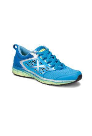 Kinetix Flash X Koyu Mavi Saks Neon Yeşil Erkek Koşu Ayakkabısı