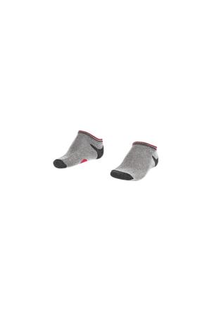 Lescon La-2187 Beyaz Erkek Patik Çorap 26-30 3'Lü