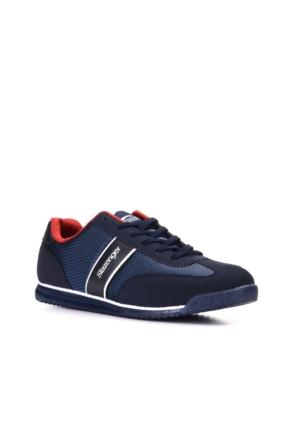Slazenger Idea Erkek Günlük Ayakkabı Lacivert Kırmızı