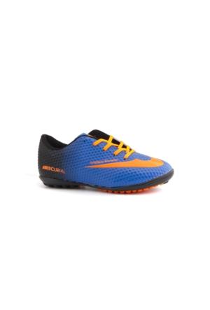 Walked 401 Mavi Turuncu Çocuk Halı Saha Ayakkabısı