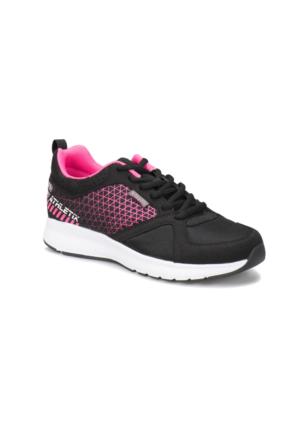 Kinetix Athletix 87 W Siyah Koyu Pembe Beyaz Kadın Fitness Ayakkabısı