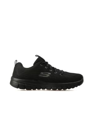 Skechers Siyah Kadın Günlük Ayakkabı 12615-Bbk