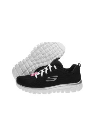 Skechers Craceful-Get Connected Bayan Spor Ayakkabı 12615-BKW