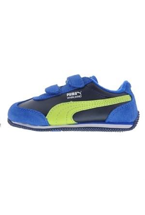 Puma 354348-14 Whirlwind Kids Çocuk Cırtlı Yürüyüş Ve Koşu Spor Ayakkabı