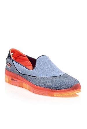 Skechers Go Flex Walk Yürüyüş Ayakkabı Gri 14010-Nvcl