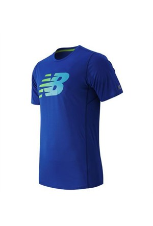 New Balance Mt53066-Pc Nb Accelerate Ss Printed Erkek T-Shirt