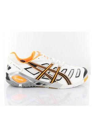 Asics Gel Sensei 4 B203y 199 Wht Blk Neon Orange Spor Ayakkabı