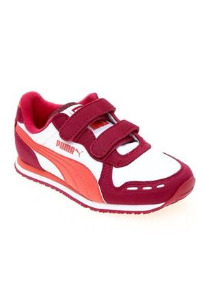Puma Cabana Racer Sl V Kids Cerise-White-Duba Çocuk Spor Ayakkabı 28-35