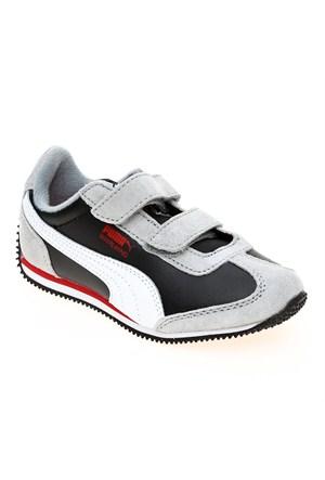 Puma Whirlwind L V Kids Limestone Gray-Black- Çocuk Spor Ayakkabı 28-35