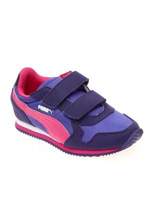 Puma St Runner V Kids Parachute Purple-Blue İ Çocuk Spor Ayakkabı 28-35