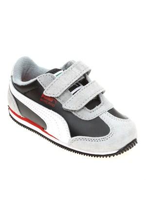 Puma Whirlwind L V Kids Limestone Gray-Black- Çocuk Spor Ayakkabı 21-27