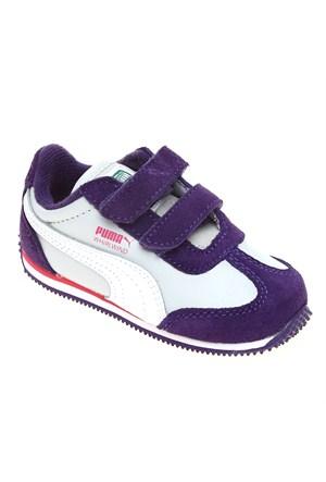 Puma Whirlwind L V Kids Parachute Purple-Gray Çocuk Spor Ayakkabı 21-27