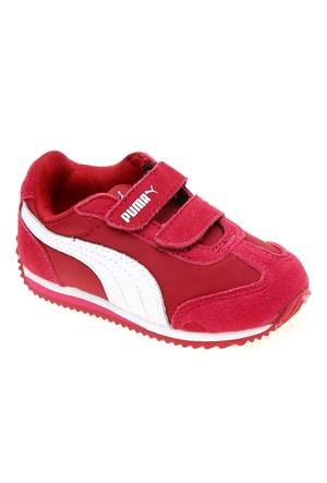Puma Rio Speed Nylon V Kids Cerise-White-Fuch Çocuk Spor Ayakkabı 35556809 (21-27 numara)