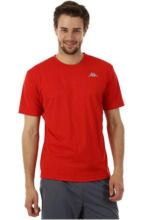 Kappa 1 302Y48 Y32L Erkek Boyuna Çizgili Poly T-Shirt Kırmızı