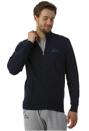Kappa 1 302Y7J 821XL Erkek Likralı Fermuarlı Sweatshirt Lacivert