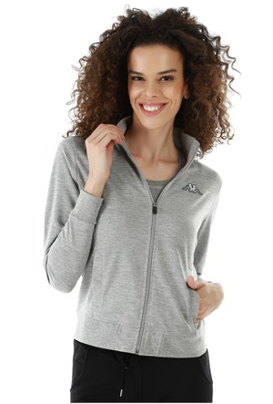Kappa 1 302Y7N 77MM Bayan Kadın Sweatshirt Gri Melanj