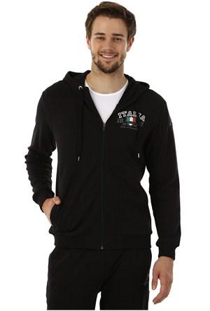 Kappa 1 30269Y 005M Erkek İnterlok Sweatshirt Siyah