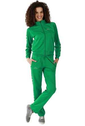 Kappa 1 302XOA T07M Bayan Kadın Raşel Şeritli Eşofman Altı Yeşil