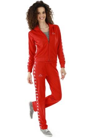 Kappa 1 302XOA Y32L Bayan Kadın Raşel Şeritli Eşofman Altı Kırmızı