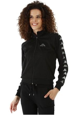 Kappa 1 302XOC 005L Bayan Kadın Raşel Şeritli Sweatshirt Siyah