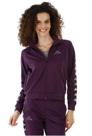 Kappa 1 302XOC 434XL Bayan Kadın Raşel Şeritli Sweatshirt Mor