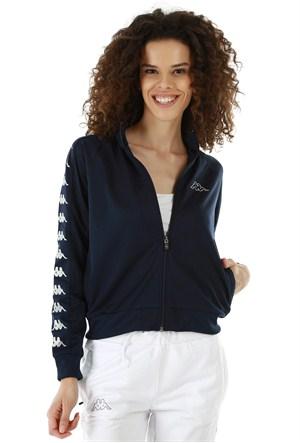 Kappa 1 302XOC 821L Bayan Kadın Raşel Şeritli Sweatshirt Lacivert