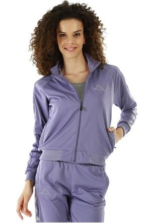 Kappa 1 302XOC 843M Bayan Kadın Raşel Şeritli Sweatshirt Mor