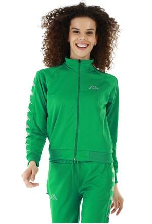 Kappa 1 302XOC T07XL Bayan Kadın Raşel Şeritli Sweatshirt Yeşil