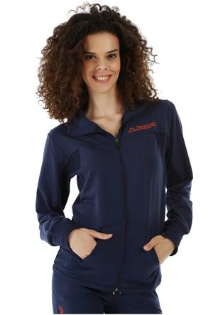 Kappa 1 3026LF0 193XL Bayan Kadın Likralı Ceket Lacivert