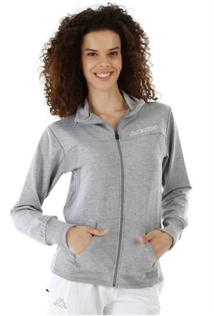 Kappa 1 3026LF0 77MXL Bayan Kadın Likralı Ceket Gri Melanj