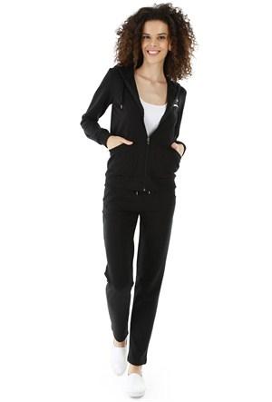 Kappa 1 3026LH0 005L Bayan Kadın Svet Pantalon Siyah