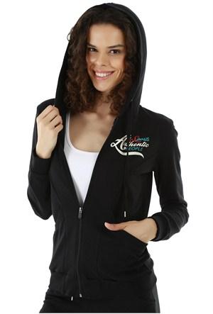 Kappa 1 3026P6 005S Bayan Kadın İnterlok Sweatshirt Siyah
