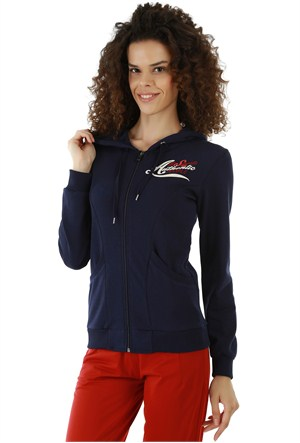 Kappa 1 3026P6 193S Bayan Kadın İnterlok Sweatshirt Lacivert