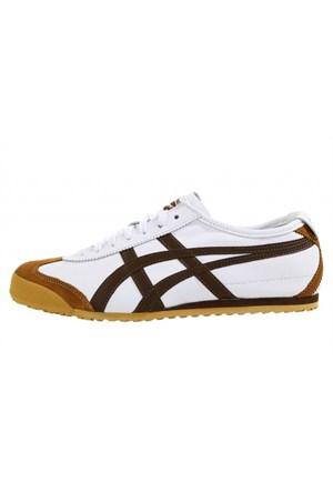Onitsuka Tiger Dl408-0128 Mexico 66 White Dark Brown Erkek Günlük Ayakkabı
