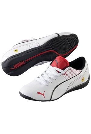 Puma Ferrari Drift Cat 6 Çocuk Beyaz Spor Ayakkabı (305179-041)