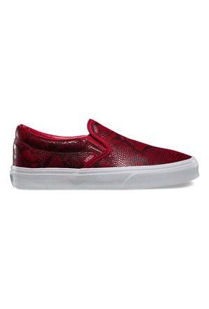 Vans Classic Slip-On Kadın Kırmızı Kaykay Ayakkabısı (Vzmrfjg)