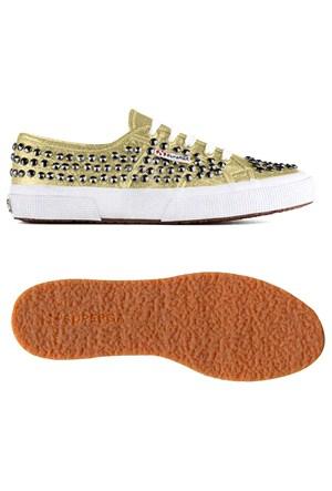 Superga 2750 Kadın Altın Sarı Zımbalı Spor Ayakkabı (S007u40-174)