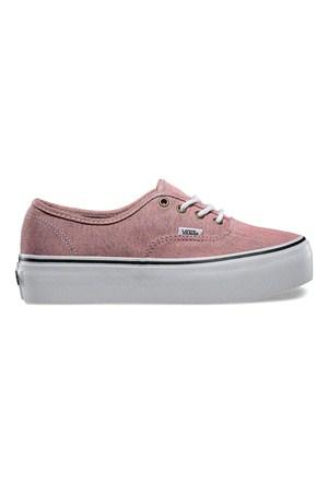 Vans Authentic Platform Kadın Pembe Kaykay Ayakkabısı (Vyppfqq)