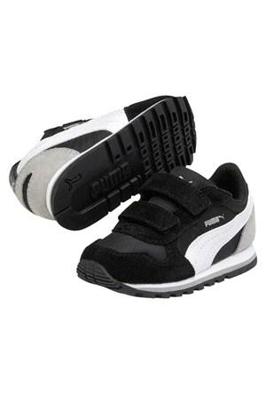 Puma St Runner Kids Blackwhitedrizzle Çocuk Spor Ayakkabı