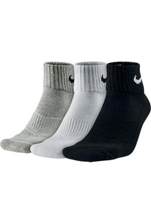Nike Sx4703-101 3P Cushion Quarter Spor Çorap