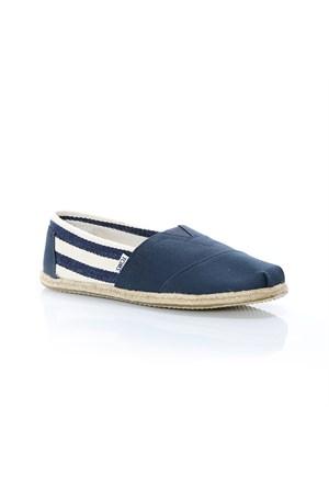 Toms Navy Strıpe Unıversıty Mn Clsc Alprg 10005418 Nvy Spor Ayakkabı