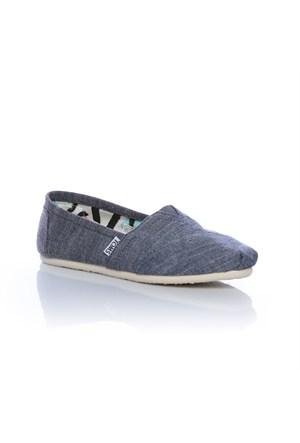 Toms Blue Chambray Wm Clsc Alprg 10004919 Blue Spor Ayakkabı