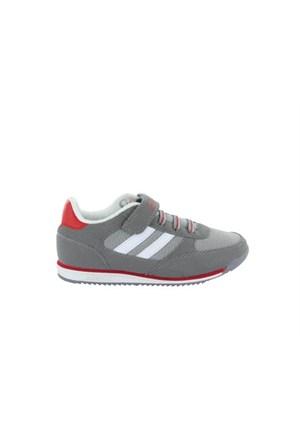 Kinetix Tramor Mesh Gri Kırmızı Beyaz Çocuk Günlük Ayakkabı