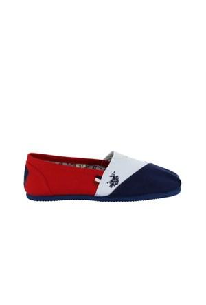 U.S.Polo Assn. 297688 5M Torker Z Lacivert Beyaz Kırmızı Kadın Günlük Ayakkabı