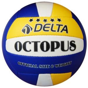 delta octopus el dikişli voleybol topu - sarı - mavi