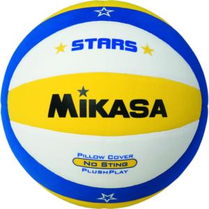 mikasa plaj voleybolu topu vsv-stars-y sarı mavi beyaz